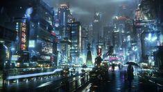 Cyberpunk Rpg, Cyberpunk Aesthetic, Electronic Arts, Sci Fi City, Dark City, Futuristic City, City Wallpaper, Metro Station, Matte Painting