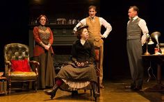 Delightful: Charlotte Page, Rachel Barry, Alistair McGowan and Paul Brightwell in 'Pygmalion