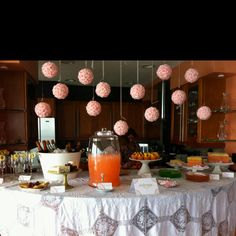 Dessert and champagne. Aimee's bridal shower.   Interested in us designing your next event, contact us www.bluebirdspch.com