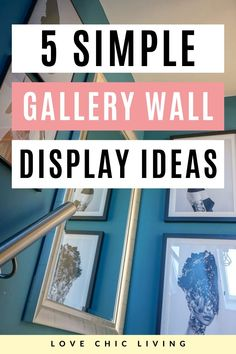 If you're looking for a new way to display your collection of art or family photos, you'll want to try one of these gallery wall layout ideas. Create photo wall art with your own personal collection for unique home wall decor. Photo wall design ideas by Love Chic Living for a unique living room gallery wall | Living Room Wall Art Decor | How to Display Art | Ways To Style Framed Photos | Wall Art Gallery Design Ideas