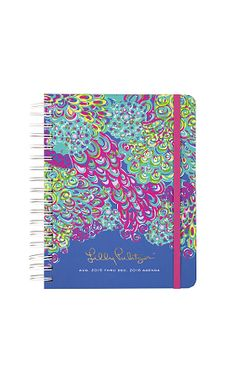 NEW PATTERNS Lilly Pulitzer Large Agenda 2015-16, Lilly's Lagoon PREORDER