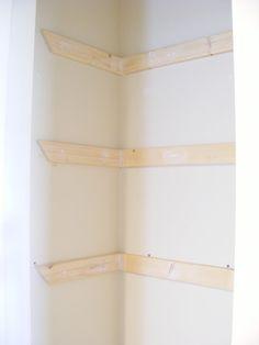 Linen Closet DIY Shelves