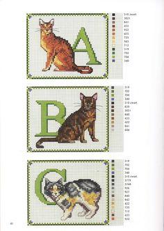 Francien van Westering - Katten borduren met francien - ABC 1