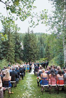 We love hosting weddings down by Gore Creek