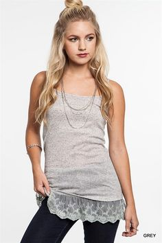 Cami Tank with Lace Ruffle from Gypsy Outfitters