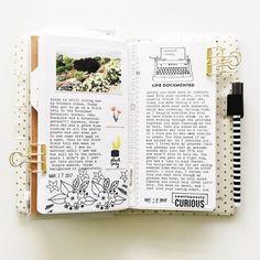 Days 27 & 28. I ♡ my typewriter. #melissagetscrafty #travelersnotebook #journal #write #tellyourstory #projectlife