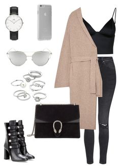 """""""Untitled #1783"""" by kellawear on Polyvore featuring Topshop, T By Alexander Wang, The Row, Isabel Marant, Gucci, Daniel Wellington, Chicnova Fashion, Case-Mate and Candie's"""