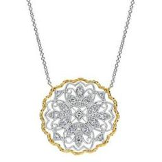 Gabriel & Co. Gold and Diamond Necklace - Freedman Jewelers