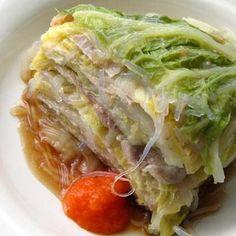 ツルっと春雨入り。豚バラと白菜の重ね蒸し by satohahaさん | レシピブログ - 料理ブログのレシピ満載! 白菜と豚バラの美味しい汁をしっかり吸った春雨が美味し!