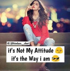 atitude girl quotes in english / atitude girl quotes . atitude girl quotes in hindi . atitude girl quotes in urdu . atitude girl quotes in english . Crazy Girl Quotes, Funny Girl Quotes, Crazy Girls, Girly Quotes, Cute Quotes, Quotes Girls, Badass Quotes, Funny Girls, Quotes In Hindi Attitude