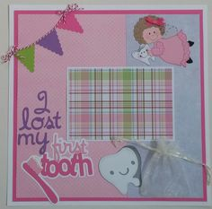 Tooth Fairy  Lost Tooth  Girl  premade scrapbook by ohioscrapper