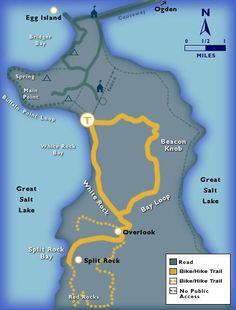 Antelope Island Trail Map #biking #SLC #Utah