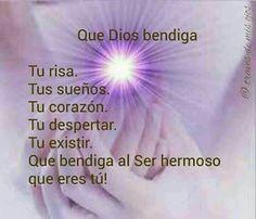 Dios te bendiga Niña Bonita Saint Esprit, Good Morning Good Night, Spanish Quotes, Facebook Instagram, Yin Yang, My Father, Namaste, Qoutes, Nostalgia