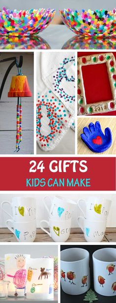24 Gifts Kids Can Make Gifts kids can make for mom dad grandma grandpa teachers. Handmade Christmas gifts for toddlers preschoolers kindergartners and older kids. The post 24 Gifts Kids Can Make appeared first on School Ideas. Diy Gifts For Christmas, Toddler Christmas Gifts, Christmas Mom, Toddler Gifts, Handmade Christmas Gifts From Children, Christmas Ideas For Toddlers, Handmade Teacher Gifts, Grandparents Christmas Gifts, Homemade Christmas