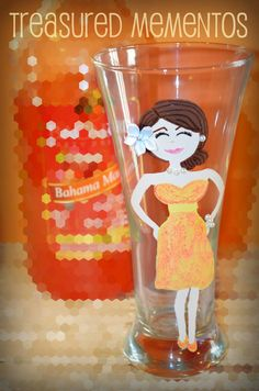 *NEW* Flare Pilsner- Hand Painted Glass