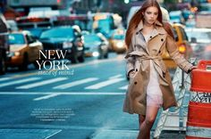 "World Country Magazines: Model @ Kristine Froseth for ELLE Norway ""New York State of Mind"""