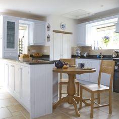 Cream-painted farmhouse kitchen-diner | Kitchens | Decorating ideas | Image | housetohome.co.uk