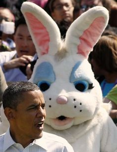 Supposedly the Easter Bunny is crippling the American economy, so the White House plans to give him the axe.   It should be noted that Cambodia Kerry just sent $250,000,000 to our religiously tolerant pals in Egypt.