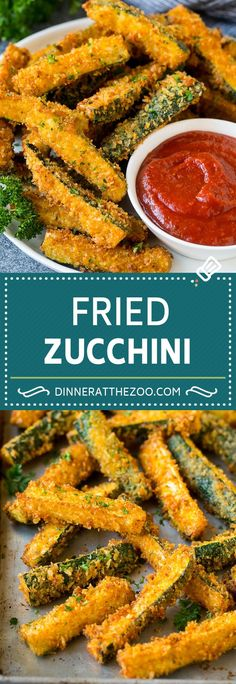 Discover 17 different ways to cook zucchini with these recipes. Zucchini is one of the healthiest and most versatile foods for you. Fried Zucchini Recipes, Recipe Zucchini, Vegetable Recipes, Vegetarian Recipes, Healthy Recipes, Fried Zuchinni, Vegetable Appetizers, Potato Recipes, Vegan Zucchini Fries