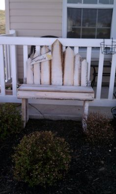 garden bench made from wood pallets by WaltsUpcycledWood on Etsy, $50.00