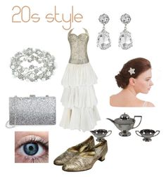 """""""20s style"""" by slytherinprincess-2 ❤ liked on Polyvore featuring Kenneth Jay Lane, Sondra Roberts, Corbell Silver Company Inc., Flapper and 20s"""