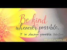Be Kind Always - a 90 second #meditation www.meditationsimple.com