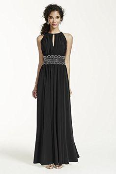 Sleeveless Key Hole Beaded Waist Jersey Dress Style 1298, Black, 14 David's Bridal http://www.amazon.com/dp/B00JBAW7L0/ref=cm_sw_r_pi_dp_aT5nwb1CYPYS3