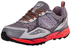 New Balance Womens WT910 GoreTex Trail Running ShoeGreyCoral7 D US *** Learn more by visiting the image link.