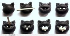 DIY Polymer Clay Cat Face DIY Projects | UsefulDIY.com na Stylowi.pl