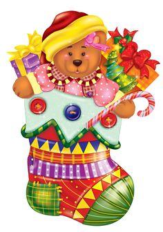 Christmas Drawing, Christmas Art, Christmas Stockings, Xmas, Christmas Ornaments, Christmas Clipart, Christmas Printables, Merry Christmas Pictures, Teddy Bear Cartoon