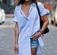 chic blue, denim shorts
