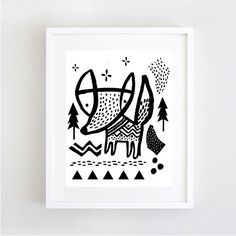 Quickly darting though the underbrush, youll be lucky to catch a glimpse of the Fox. Printable 8.5x11pdf. This is shown in an Ikea Ribba Frame. Please