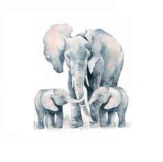 Elephant and Two Baby Elephants. No one else will ever know the strength of my love for you. Nursery Elephants for Twins. Art for Twins Elephant and two baby calves with the quote Small Elephant, Elephant Love, Elephant Art, Elephant Nursery, Baby Elephants, Nursery Art, Baby Elephant Drawing, Elephant Family Tattoo, Elephant Tattoos