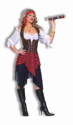 Forum Novelties Women's Sweet Buccaneer Pirate Costume, Black/Red, Standard Forum Novelties http://www.amazon.com/dp/B0041RFC6U/ref=cm_sw_r_pi_dp_id-Kub04JR7YW