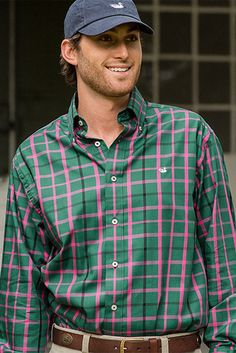 Southern Marsh Walton Plaid Button Down Shirt in Navy and Blue