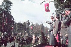 1939, Pologne, Varsovie, Adolf Hitler au défilé des troupes allemandes commémorant la victoire sur la Pologne