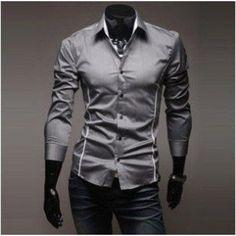 Casual Dress Shirt Men's Long Sleeve Business Shirts Slim Fit 2017 New Social Tops camisa masculina Cheap Mens Shirts, Mens Shirts Online, Cotton Shirts For Men, Casual Shirts For Men, Casual Tops, Men Casual, Men Shirts, Men Online, Long Sleeve Fitted Dress