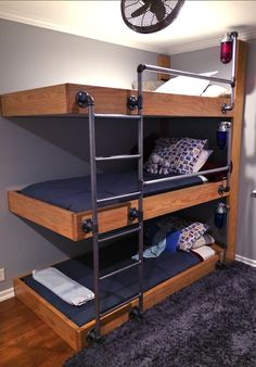 Space saving bunk beds