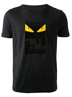 FENDI Owl Logo Print T-Shirt