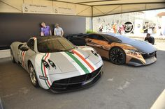 Pagani Huayra and Peugeot Onix. Goodwood Festival of Speed 2013