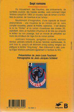 Les Intégrales du Masque - Edgar Wallace - Volume 1 - Verso - Octobre 1993