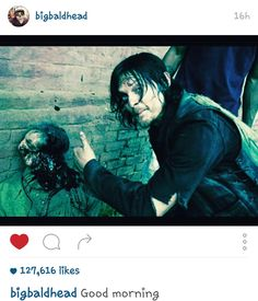 From Norman Reedus @bigbaldhead on instagram.