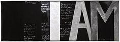 Colin McCahon Victory over death 2 Synthetic polymer paint on unstretched canvas. Gift of the New Zealand Government Courtesy of the Colin McCahon Research and Publication Trust New Zealand Art, Nz Art, Maori Art, Artist Quotes, Colour Field, Girl Meets World, Australian Art, Art Themes, Kids Writing