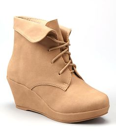 This Lucky Top Tan Max Wedge Bootie by Lucky Top is perfect! #zulilyfinds
