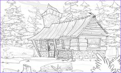 House Colouring Pages, Adult Coloring Book Pages, Disney Coloring Pages, Christmas Coloring Pages, Free Printable Coloring Pages, Coloring Books, Lego Christmas, Christmas Colors, Summer Cabins