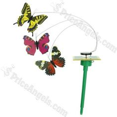 DIY Colorful Solar Power Butteyfly Decoration Toy(Color Assorted) Price: $7.09