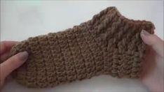 Crochet Ear Warmer Pattern, Crochet Slipper Pattern, Crochet Poncho Patterns, Easy Knitting Patterns, Crochet Motif, Crochet Baby, Easy Crochet Slippers, Crochet Simple, Crochet Video