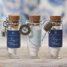 nautical/beachcottage theme - Mini Clear Glass Bottle with Cork