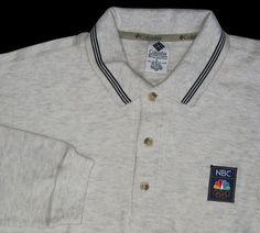 Olympics NBC Media Columbia Sportswear L/S Polo Shirt L  New #Columbia