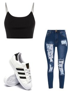 """""""Untitled #18"""" by anyahmccrimmon on Polyvore featuring Alexander Wang and adidas"""